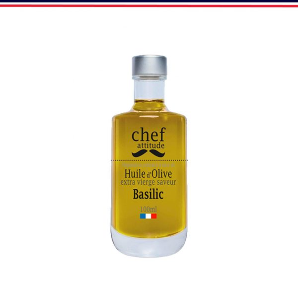 Huile d'Olive Extra vierge, saveur Basilic